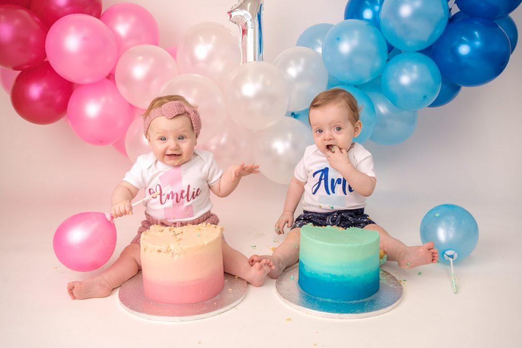 Twins cake smash Gravesend