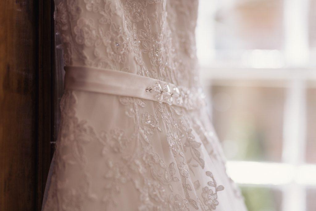 close up of wedding dress wedding photography