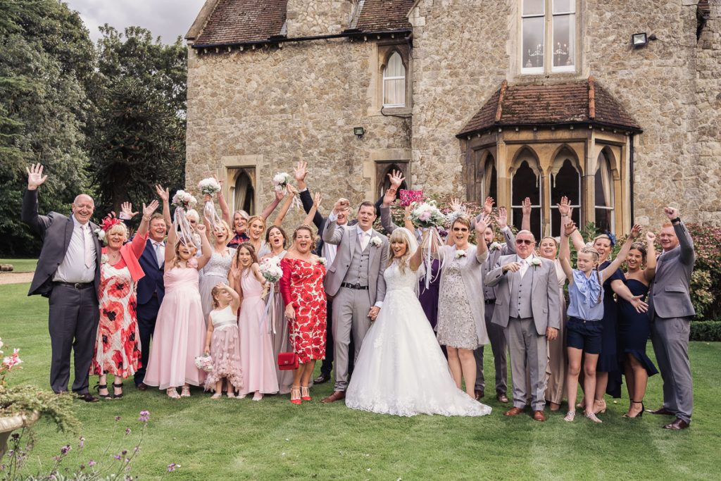 family and friends photo of your wedding day