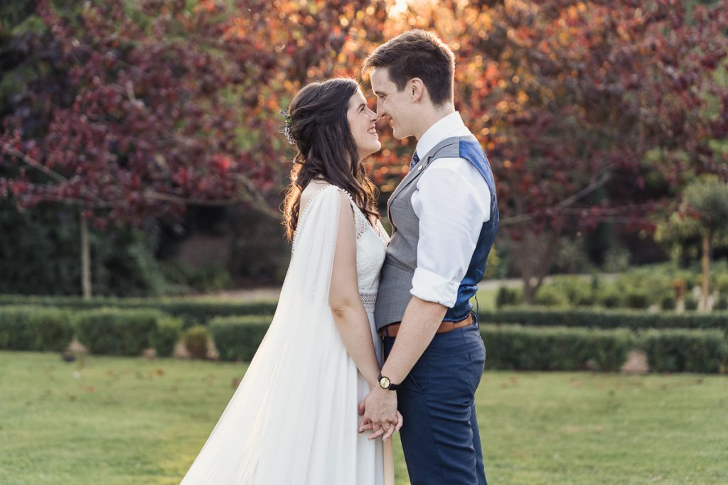 bride and groom outdoor photo
