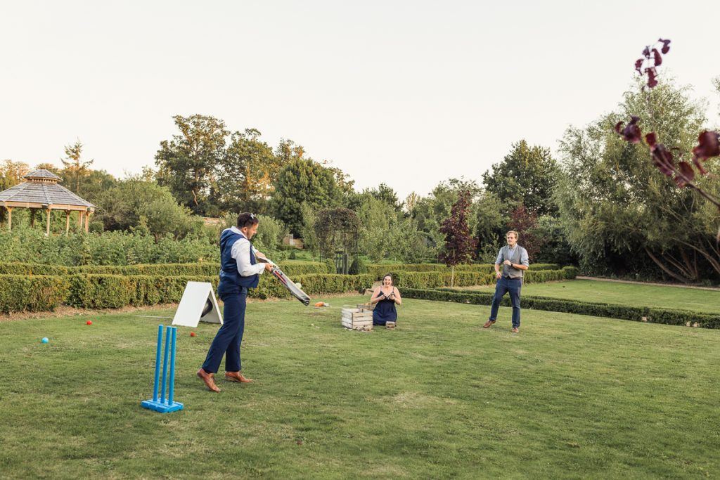 playing cricket on your wedding day