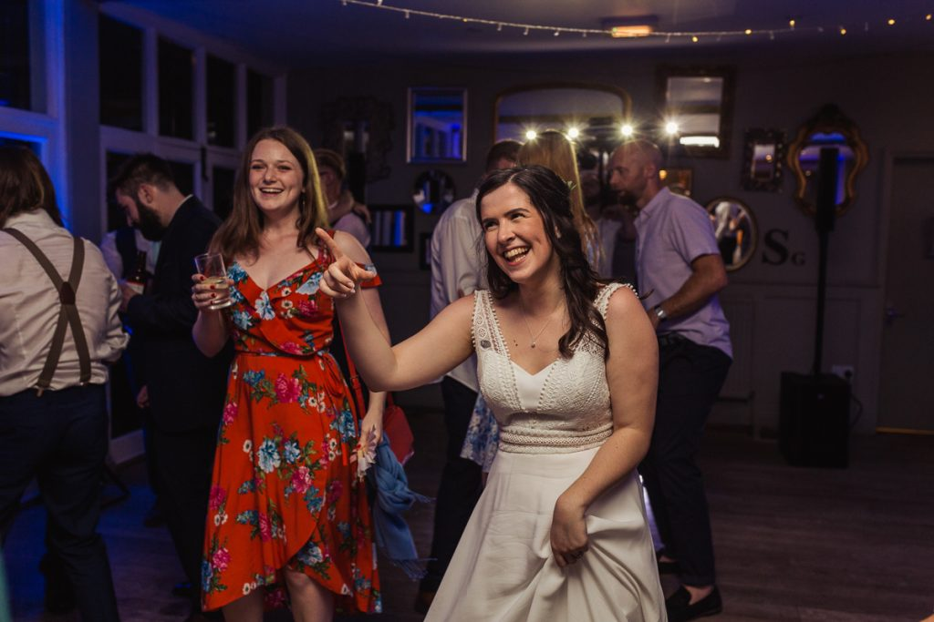 on the dancefloor with the bride