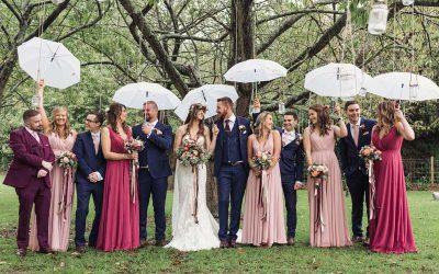 Kent Boho Tipi Wedding In The Rain