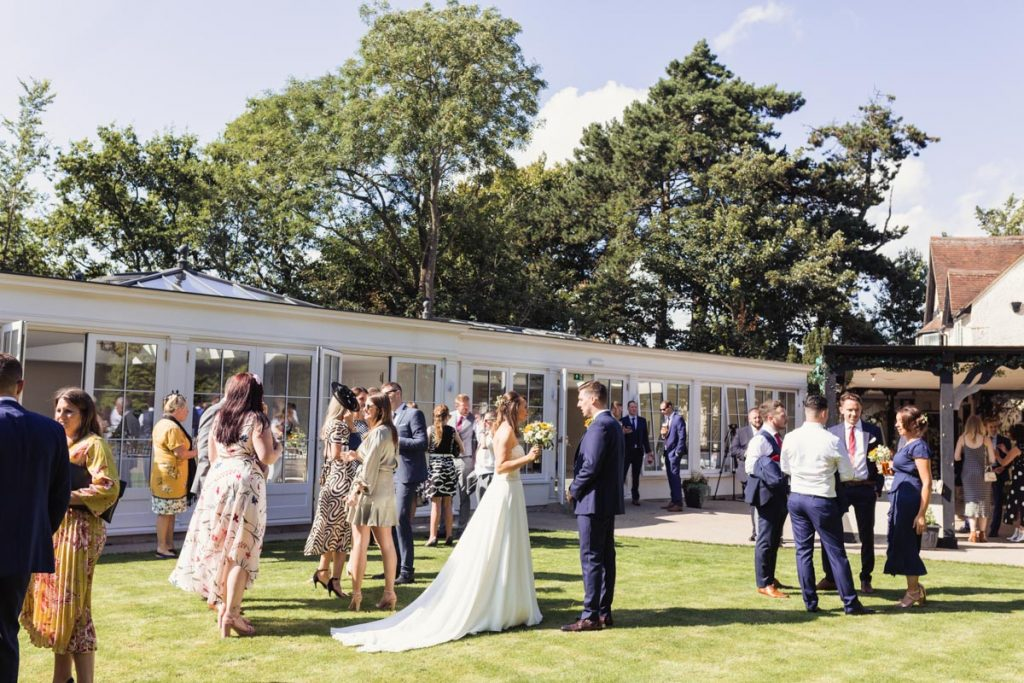 Outdoors on a sunny day Kent wedding