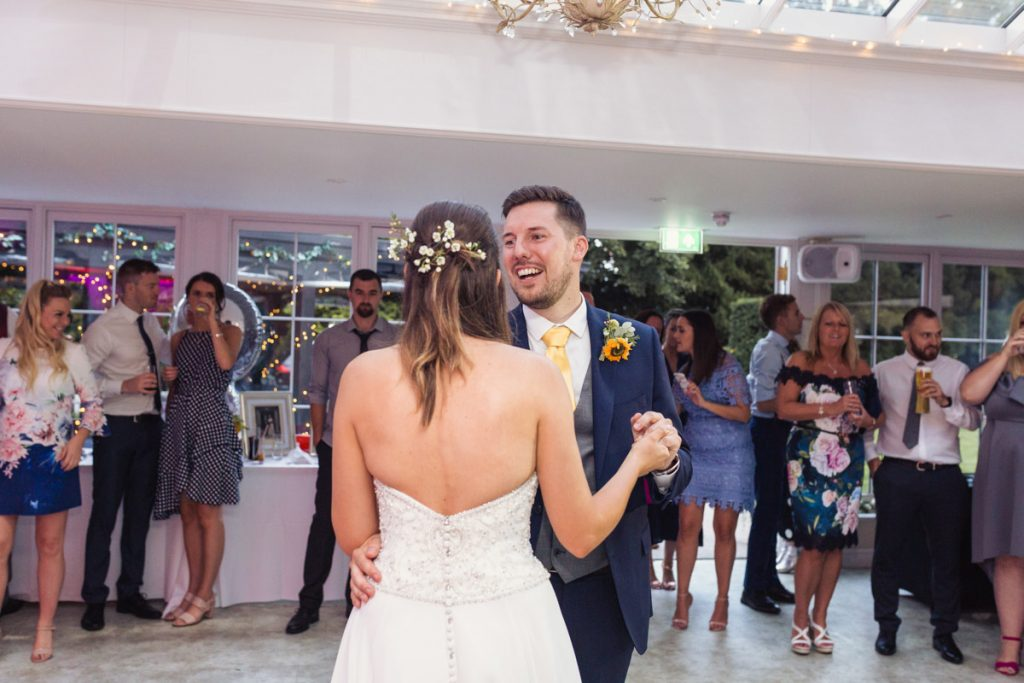 bride and groom dancing to their first dance