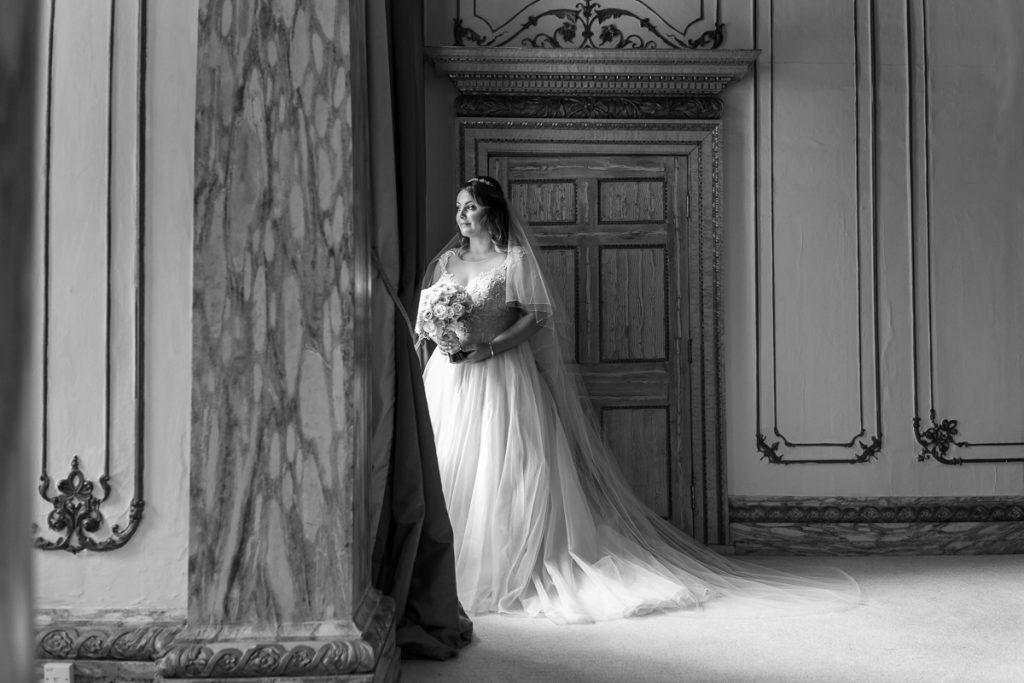Gosfield Hall wedding - bride