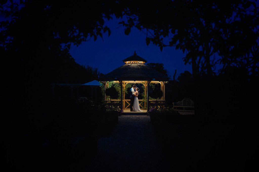 Secret Garden night wedding photo